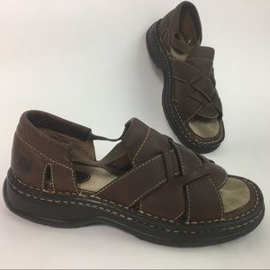 Born W6935 Brown Leather Sandals Size 7 (38)